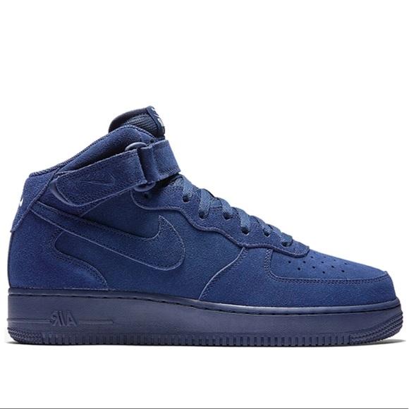 nike air force 1 high suede blue